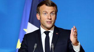 Le président de la République, Emmanuel Macron, le 1er octobre 2020. (DURSUN AYDEMIR / ANADOLU AGENCY / AFP)