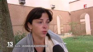 Une rescapée de l'explosion survenu à Dijon (Côte d'Or), le 16 septembre 2016. (FRANCE 2)