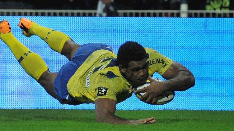 Nalaga (Clermont) va à l'essai contre Brive (THIERRY ZOCCOLAN / AFP)
