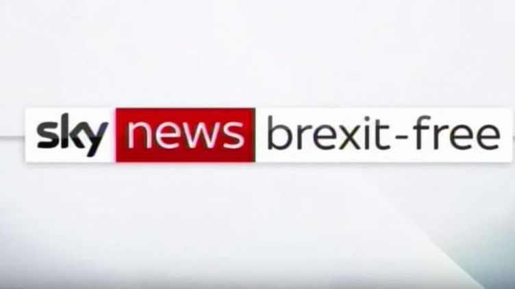 """La chaîne britannique """"Sky News"""" promet de ne pas aborder le Brexit. (CAPTURE D'ÉCRAN YOUTUBE)"""