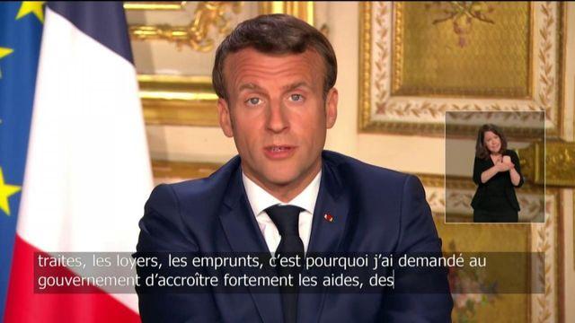 """Emmanuel Macron annonce une """"aide exceptionnelle"""" pour les familles les plus modestes"""
