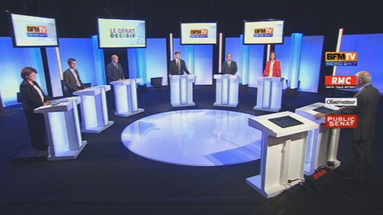 Le plateau du débat (BFM)