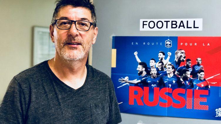 Jean-François Suner, directeur sportif de l'AS Bondy, le club d'Ile-de-France qui a formé Kylian Mbappé. (MATTHIEU MONDOLONI / RADIO FRANCE)