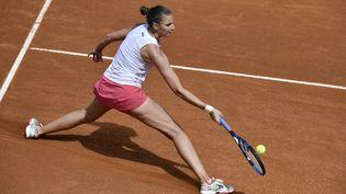 Karolina Pliskova affrontera Iga Swiatek dimanche 16 mai pour sa troisième finale consécutive à Rome. (FILIPPO MONTEFORTE / AFP)