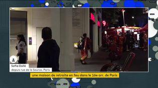 Les pompiers mobilisés pour un incendie à Paris (FRANCEINFO)