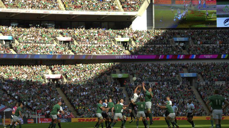 Wembley a fait le plein pour Irlande-Roumanie. (GLYN KIRK / AFP)