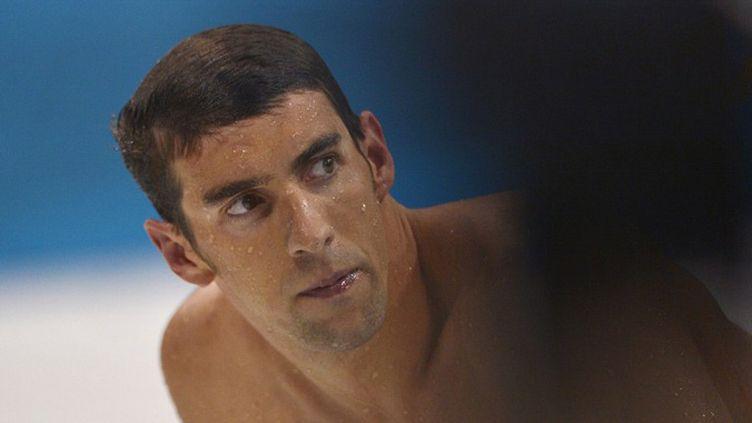 Michael Phelps à la sortie du bassin
