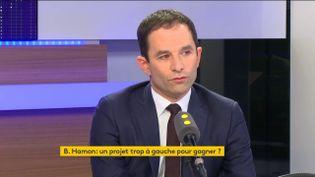 Benoît Hamon, le 13 janvier 2017 sur franceinfo (FRANCEINFO)