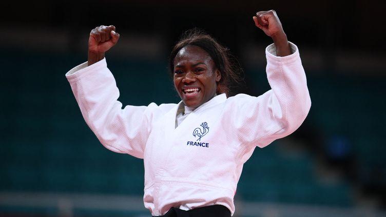 La Française Clarisse Agbégnégnou, championne olympique le 27 juillet 2021 à Tokyo. (FRANCK FIFE / AFP)