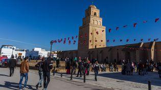 Mosquée d'Uqba à Kairouan, en Tunisie. (AMINE LANDOULSI / ANADOLU AGENCY)