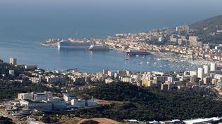La ville d'Ajaccio (Corse-du-Sud), le 11 octobre 2019. (PASCAL POCHARD-CASABIANCA / AFP)