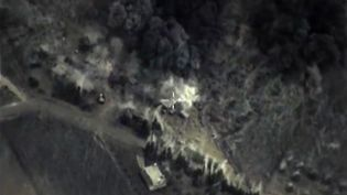 La Russie a lancé des raids contre des rebelles sur le territoire syrien, le 30 septembre 2015. (RUSSIAN DEFENCE MINISTRY /AFP)