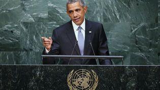 Barack Obama devant l'Assemblée générale des Nations Unies le 28 Septembre 2015 à New York (JOHN MOORE / GETTY IMAGES / AFP)