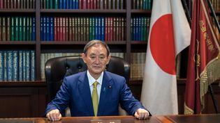 Yoshihide Suga, nouveau Premier ministre japonais. (NICOLAS DATICHE / POOL)