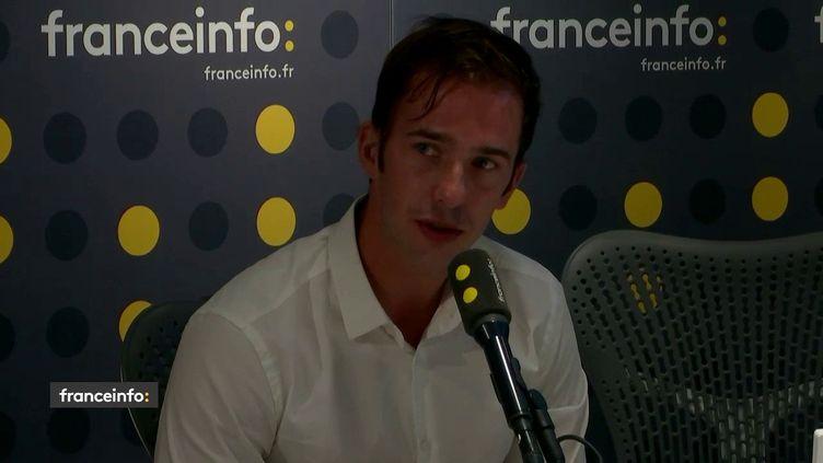 Antoine Reydellet, président de l'Intersyndicale nationale des internes, le 22 juillet 2019. (RADIO FRANCE / FRANCEINFO)