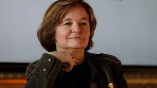 """Nathalie Loiseau, lors du sommet """"Choose France"""" le 21 janvier 2019 à Versailles. (GEOFFROY VAN DER HASSELT / POOL)"""