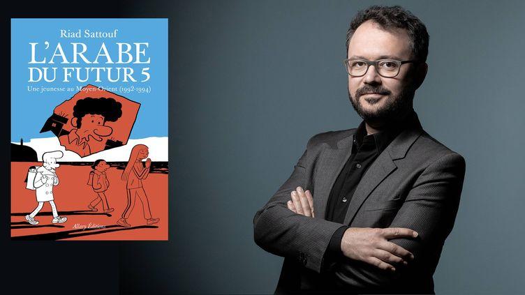 L'auteur de bande dessinée Riad Sattouf le 7 septembre 2020 à Paris (JOEL SAGET / AFP)
