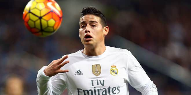 Le joueur du Real Madrid, James Rodriguez