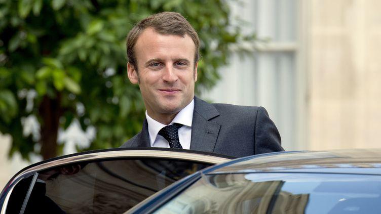 Le ministre de l'Economie, Emmanuel Macron, le 1er septembre 2014 à Paris. (ALAIN JOCARD / AFP)