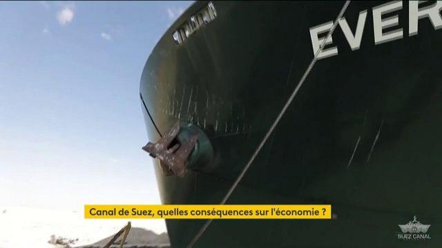 Canal de Suez : les conséquences du blocage sur l'économie