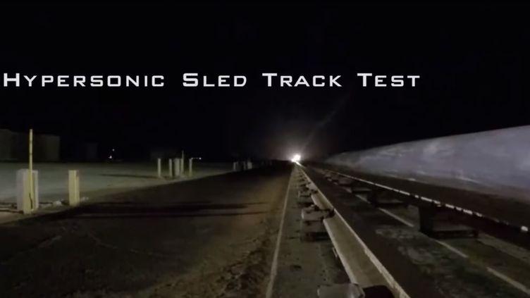 Extrait de la video du test mené par l'US Air Force (FACEBOOK / US AIR FORCE TEST CENTER)