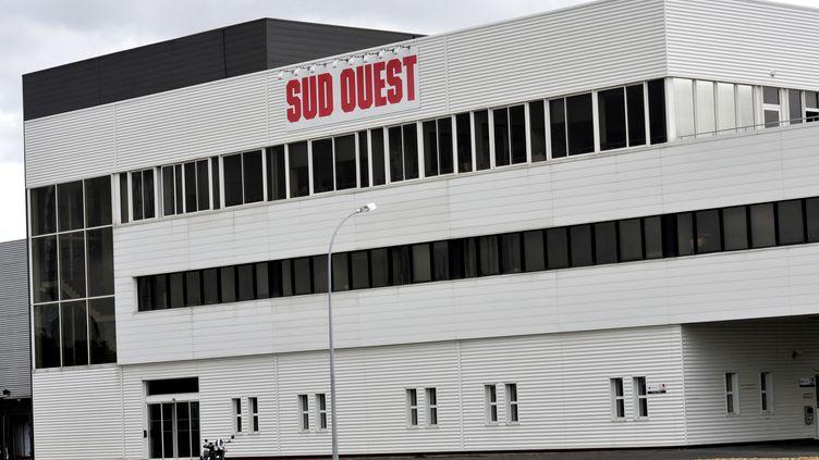 """Les locaux du quotidien """"Sud Ouest"""", le 30 janvier 2018 à Bordeaux (Gironde). (SERGE ATTAL / ONLY FRANCE / AFP)"""