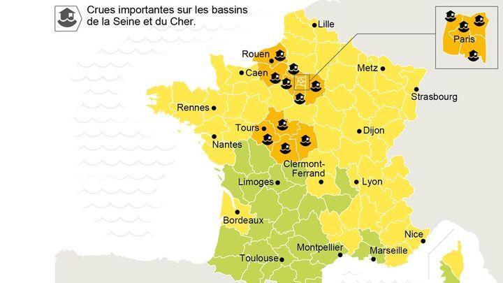(Toujours 14 départements en vigilance orange © Visactu)