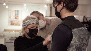 Image extraite de la vidéo Agnès.b présentant l'automne-hiver 2021-22 à la Paris Fashion Week masculine, janvier 2021 (Agnès.b)