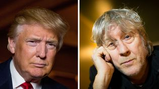 Donald Trump le 2 décembre 2015 à Sterling (Virginie) ; Arno le 12 janvier 2016 au club L'Archiduc à Bruxelles  (Andrew Harnik / AP / Sipa - Jean-Baptiste Quentin / PhotoPQR / Le Parisien)