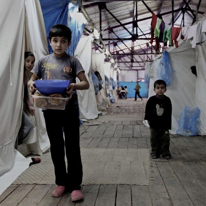 Des enfants dans le camp de réfugiés de Reyhanli en Turquie (william Roguelon)