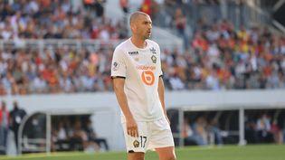 Burak Yilmaz lors du match de Ligue 1 entre le RC Lens et le LOSC, le 17 septembre 2021, à Lens. (LAURENT SANSON / AFP)
