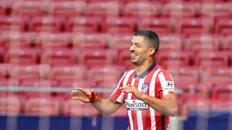 Luis Suárez a inscrit un doublé pour son premier match avec l'Atlético (GABRIEL BOUYS / AFP)