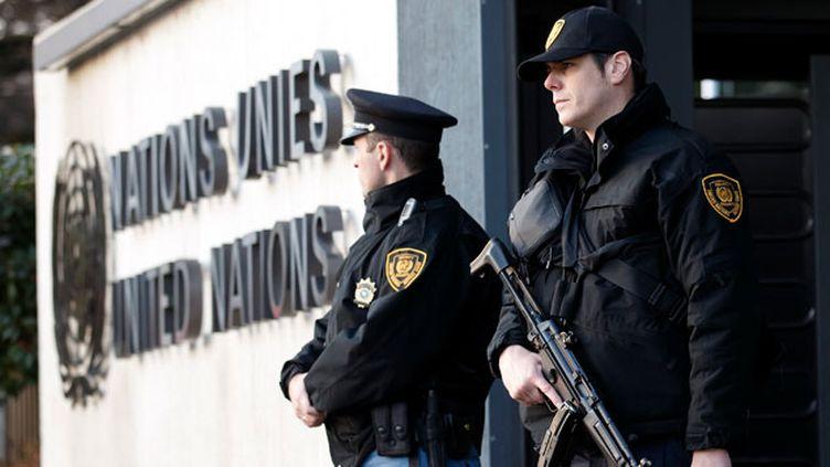 (La sécurité a notamment été renforcé au siège européen de l'ONU à Genève © MaxPPP)