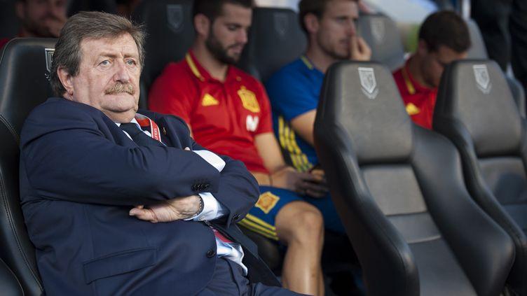 Juan Luis Larrea a déclaré que l'a liga utilisera l'arbitrage vidéo la saison prochaine.  (JOSE BRETON / NURPHOTO)