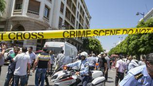 Un double attentat visant la police a fait au moins un mort et huit blessés à Tunis, le 27 juin 2019. (YASSINE GAIDI / ANADOLU AGENCY / AFP)
