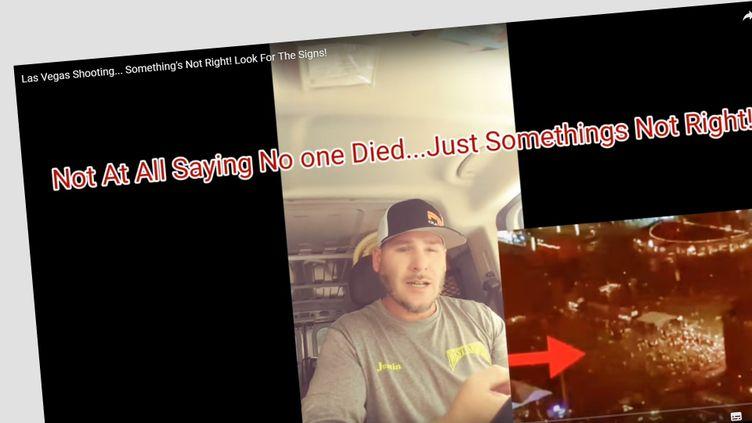 """Une vidéo remettant en cause la version """"officielle"""" de la tuerie de Las Vegas. (CAPTURE D'ECRAN YOUTUBE)"""
