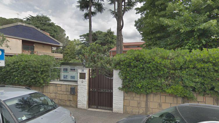 Capture d'écran de l'entrée de l'ambassade de la Corée du Nord à Rome (Italie). (GOOGLE STREET VIEW)
