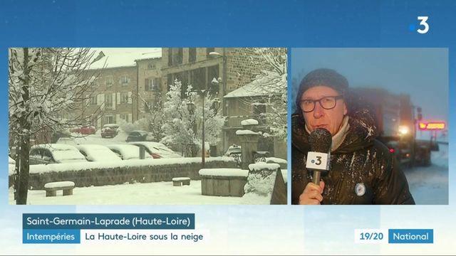 Intempéries : la Haute-Loire sous la neige