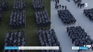 Une scène de foule créée avec le logiciel Golaem. (France 3 Bretagne)