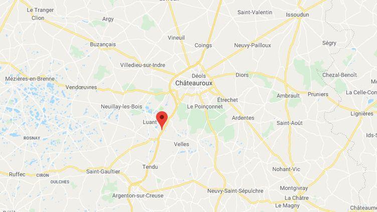 L'homme s'était garé sur l'aire des mille étangs au sud de Chateauroux sur l'A20. (GOOGLE MAPS / FRANCETV INFO)