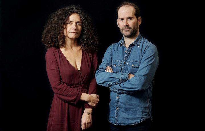 """Françoise Igounet historienne et Vincent Jarousseau, photographe, auteurs de """"L'illusion nationale"""" (Les Arènes / XXI)  (Pierre Hybre/MYOP)"""