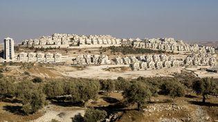 La colonie israélienne de Har Homa, à Jérusalem-Est, le 29 août 2010. (AHMAD GHARABLI / AFP)