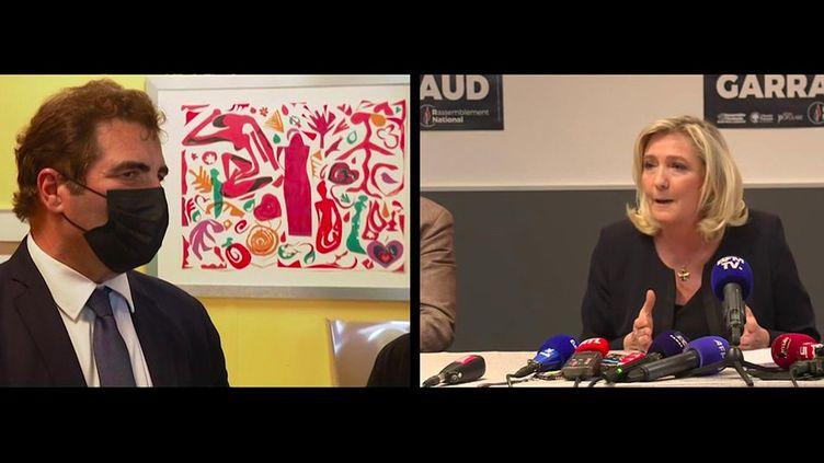 Élections régionales : Christian Jacob et Marine Le Pen en campagne à Nîmes (France 3)