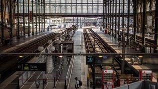 La SNCF va progressivement fermer la Gare du Nord à Paris tout au long de la journée de samedi, interrompant totalement dans la soirée la circulation des trains de banlieue et RER dans une bonne partie de la région parisienne. (CHRISTOPHE SIMON / AFP)