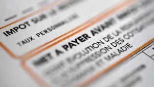 Le prélèvement à la source de l'impôt sur le revenu est lancé depuis le 1er janvier 2019. (FRED TANNEAU / AFP)