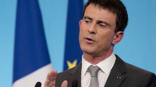 Le Premier ministre, Manuel Valls, lors d'une conférence de presse, à Paris, le 6 mars 2015. (KENZO TRIBOUILLARD / AFP)