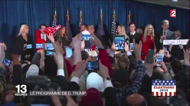Présidentielle américaine : le programme de Donald Trump