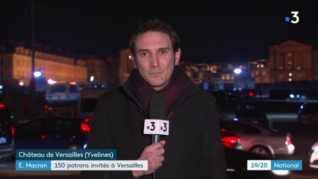 Emmanuel Macron devant 150 patrons invités à Versailles