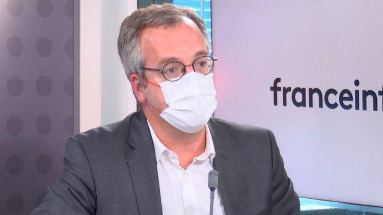 Thomas Fatome, le directeur général de l'Assurance maladie, sur franceinfo le 3 spetembre 2021. (FRANCEINFO)