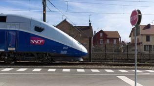 Un TGV à Belfort (Bourgogne-Franche-Comté), en 2013. Image d'illustration. (SEBASTIEN BOZON / AFP)